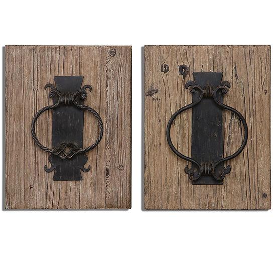 Set of 2 Rustic Door Knockers
