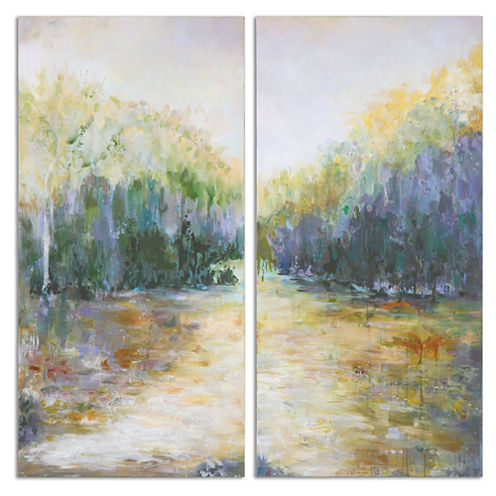 Set of 2 Summer View on Canvas Wall Art