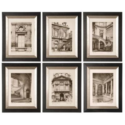Set of 6 Paris Scenes Framed Wall Art
