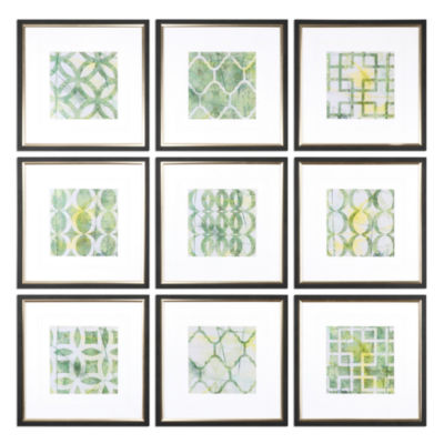 Set of 9 Metric Links Wall Art