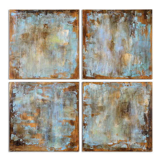 Set of 4 Wall Art Accent Tiles - JCPenney