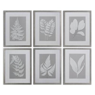 Set of 6 Moonlight Ferns Wall Art