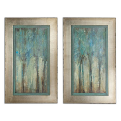 Set of 2 Whispering Wind Framed Wall Art
