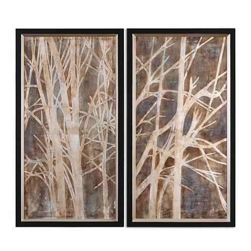 Set of 2 Twigs Framed Wall Art