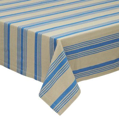 "Design Imports Sailor Stripe 60""x84"" Tablecloth"