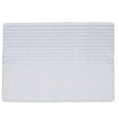 Design Imports Silver Metallic Stripe Set of 6 Placemats