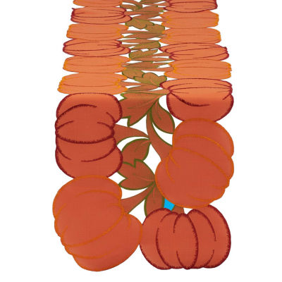 Design Imports Embroidered Pumpkin Table Runner