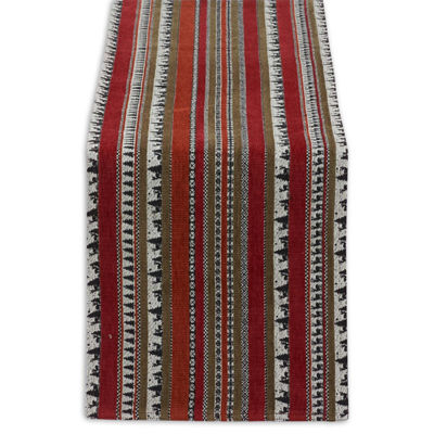 Design Imports Wilderness Stripe Table Runner