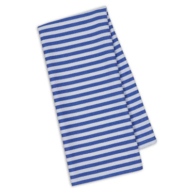 Design Imports Blueberry Stripe Set of 4 Kitchen Towels