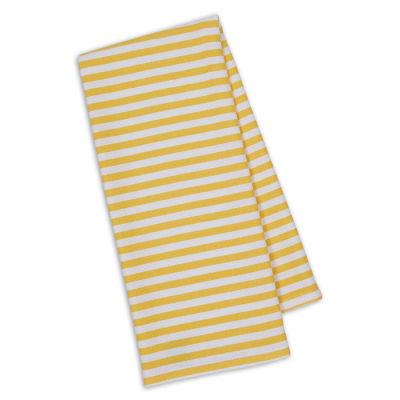 Design Imports Daffodil Stripe Set of 4 Ktichen Towels