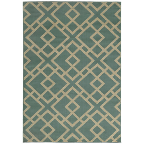 Covington Home Squarley Rectangular Rug