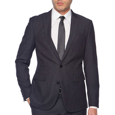 JF J.Ferrar Dots Classic Fit Stretch Suit Jacket-Big and Tall