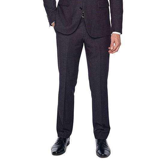 JF J.Ferrar Mens Dots Stretch Classic Fit Suit Pants - Big and Tall