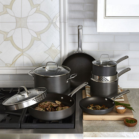 Calphalon Classic 10 Pc Hard Anodized Nonstick Cookware Set