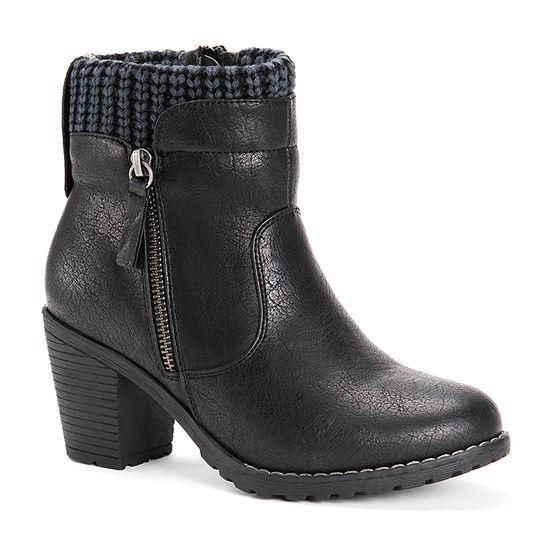 Muk Luks Womens Gail Block Heel Dress Boots