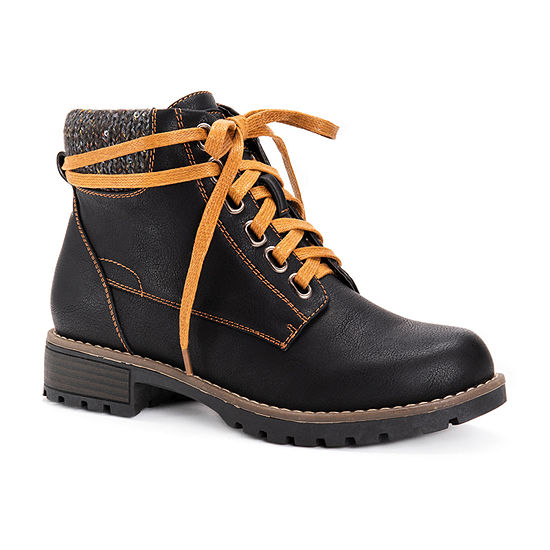 Muk Luks Womens Mitzi Block Heel Dress Boots