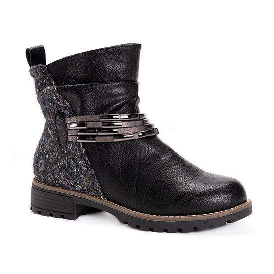 Muk Luks Womens Tisha Block Heel Dress Boots