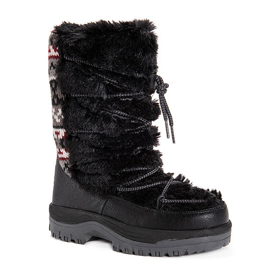 Muk Luks Womens Massak Waterproof Snow Boots