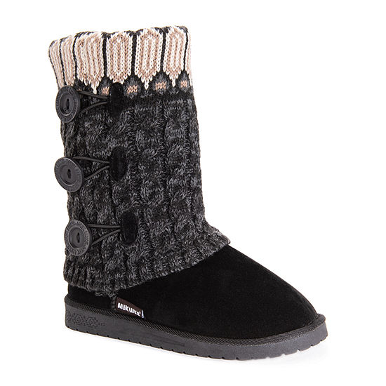 Muk Luks Womens Cheryl Pull-on Booties