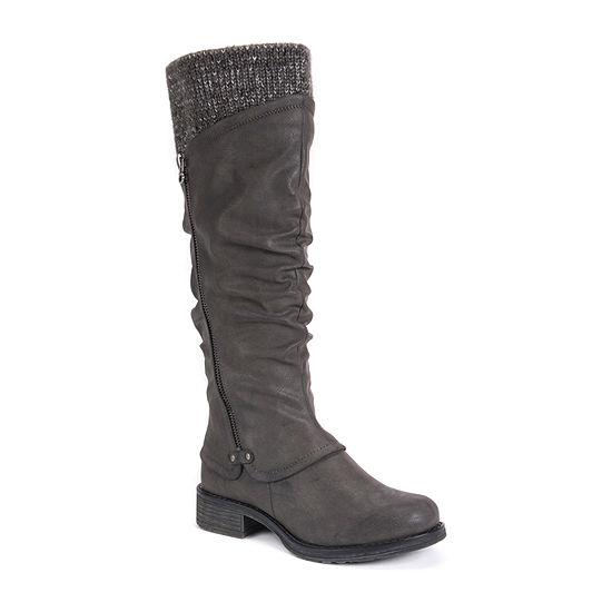 Muk Luks Womens Bianca Dress Boots Block Heel