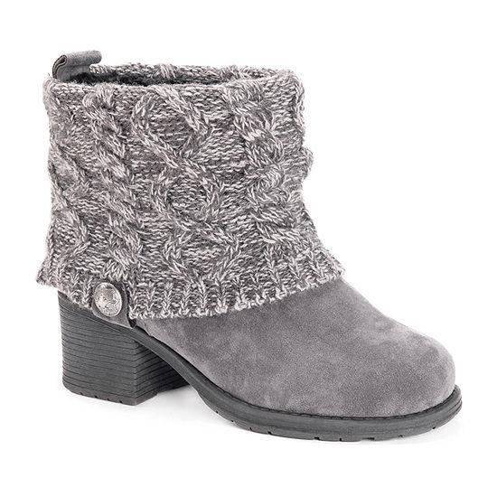 Muk Luks Womens Haley Dress Boots Block Heel