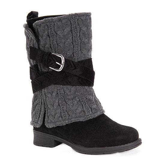 Muk Luks Womens Nikita Dress Boots Block Heel