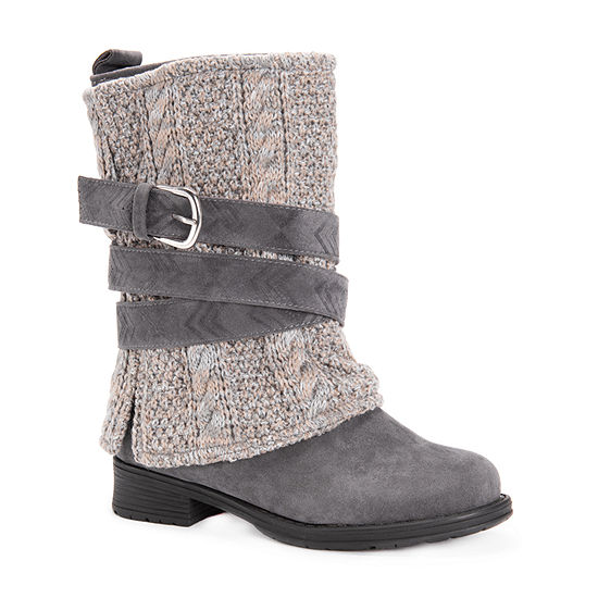 Muk Luks Womens Nikita Dress Boots Block Heel