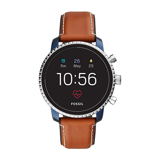 Fossil Smartwatches Gen 4 Mens Brown Leather Smart Watch-Ftw4016