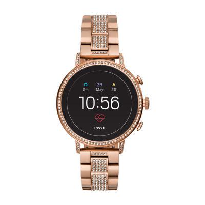 Fossil Q Gen 4 Womens Rose Goldtone Smart Watch-Ftw6011