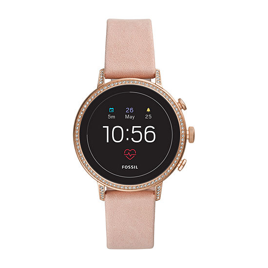 Fossil Smartwatches Gen 4 Womens Pink Leather Smart Watch-Ftw6015