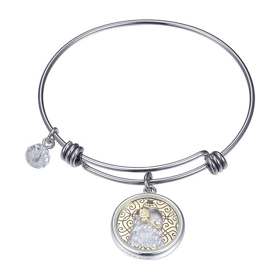 Disney Beauty and the Beast Silver Over Brass Bangle Bracelet