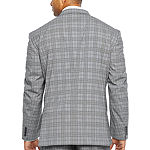 JF J.Ferrar-Big and Tall Ultra Comfort Plaid Slim Fit Stretch Suit Jacket