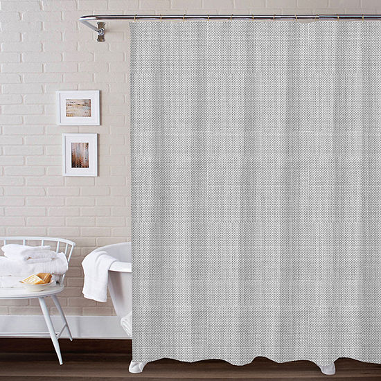 3 Piece Texture Bath Set Shower Curtain Set