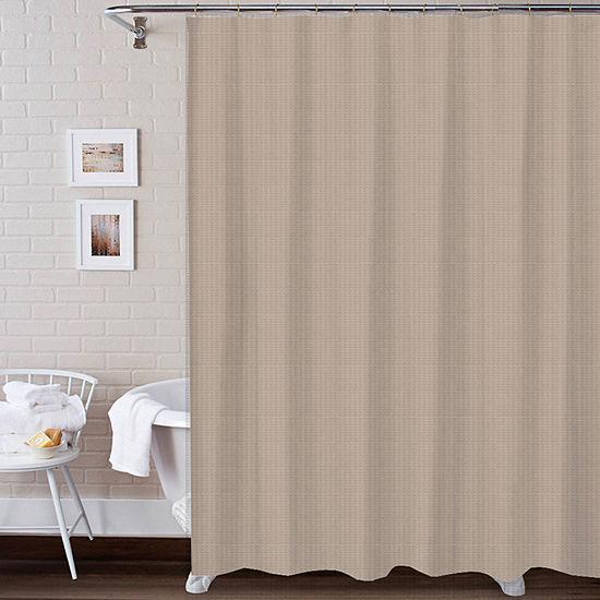 3 Piece Texture Bath Set Shower Curtain Set