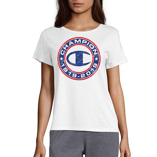 Champion Womens Crew Neck Short Sleeve Graphic T-Shirt