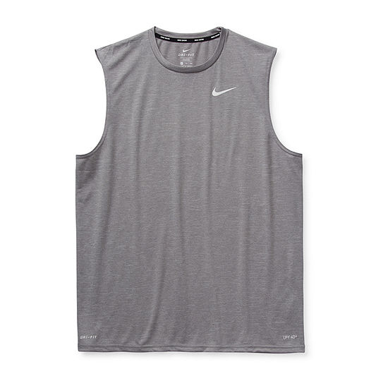 Nike Short Sleeve Heathered Hydroguard Swim Tank Big and Tall