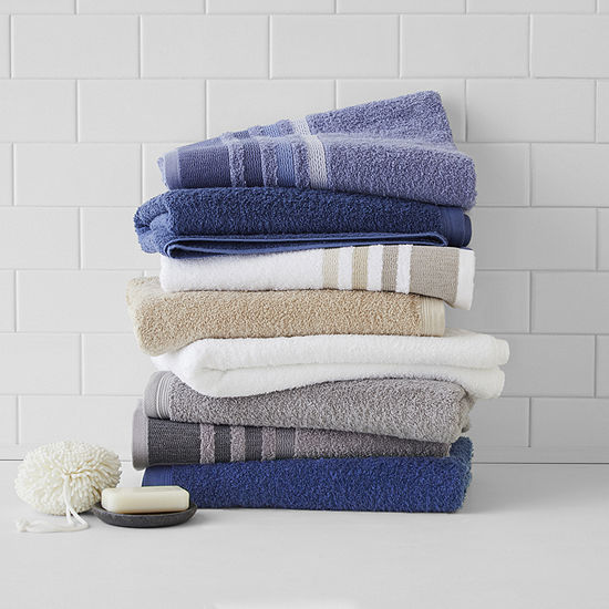 Home Expressions Solid or Stripe Bath Towel Collection