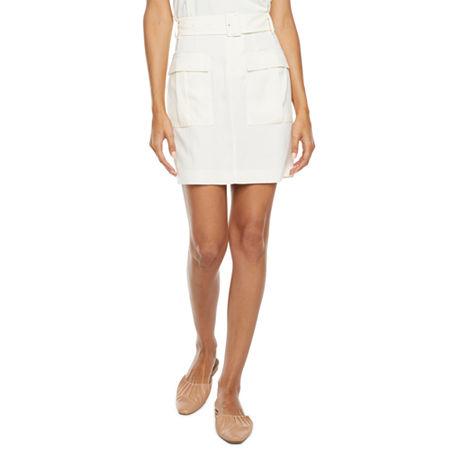 Worthington Fashion Womens A-Line Skirt, 2 , White
