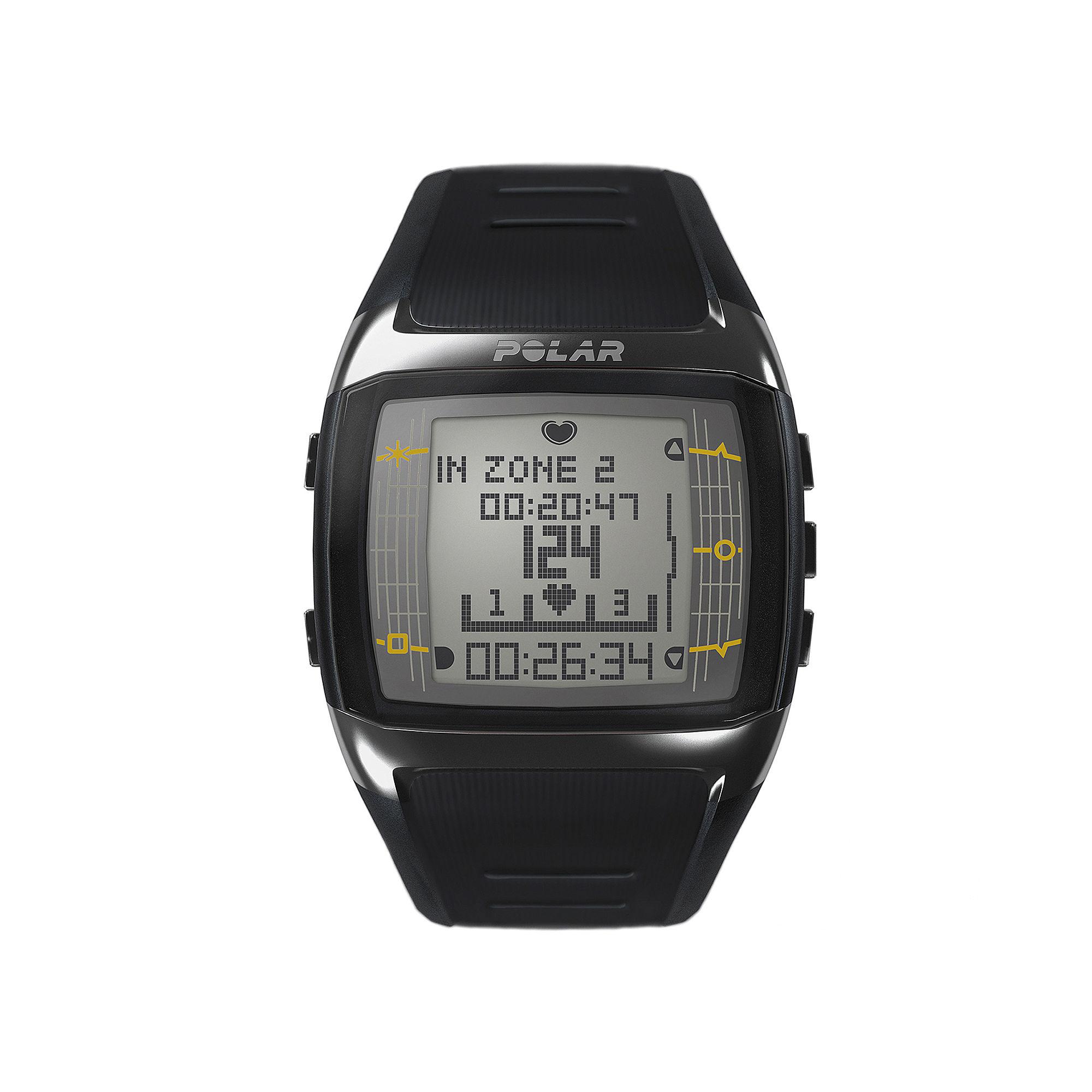 Polar FT60M Mens Heart-Rate Monitor Chronograph Black Strap Watch