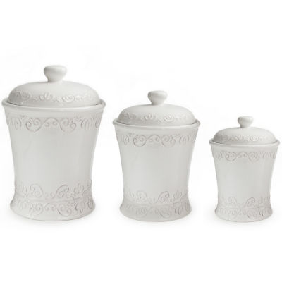 American Atelier Bianca Scroll 3-pc. Canister Set