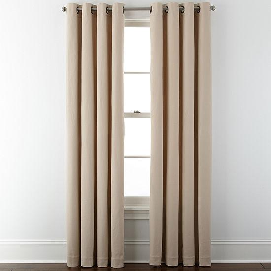Liz Claiborne® Pembroke Grommet-Top Curtain Panel