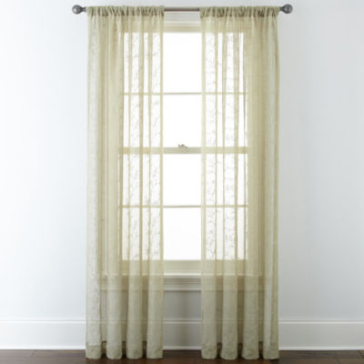 JCPenney Home™ Ingals Rod-Pocket Sheer Panel