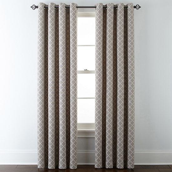 Liz Claiborne Quinn Lattice Grommet-Top Curtain Panel