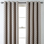 Liz Claiborne Quinn Lattice Room-Darkening Grommet Top Single Curtain Panel