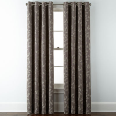 Jcpenney.com | JCPenney Home™ Quinn Leaf Grommet Top Window Treatments
