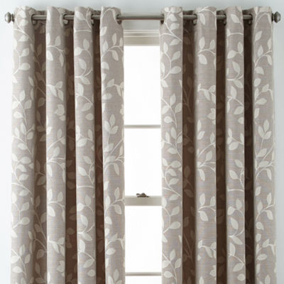 Liz Claiborne Quinn Leaf Grommet-Top Curtain Panel