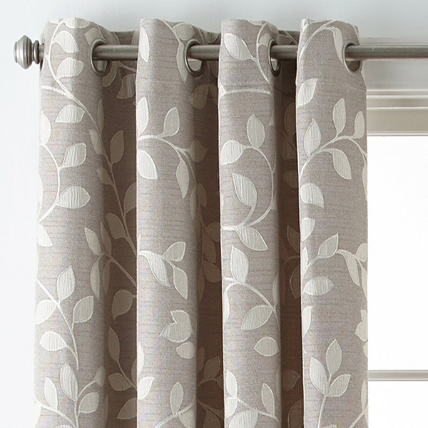 Jc Penney Home Collection: JCPenney Home™ Quinn Leaf Grommet-Top Curtain Panel