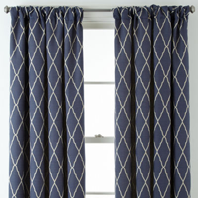 JCPenney Home™ Hamilton Rod-Pocket/Back-Tab Curtain Panel