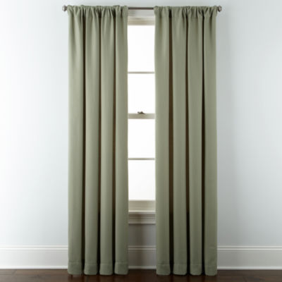Jcpenney Home Mll Rod Pocket Back Tab Curtain Panel