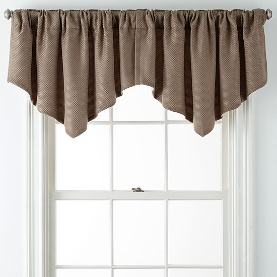 Jcpenney Home Marsell Lined Rod Pocket Back Tab Ascot Valance